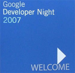 Google Deleloper Night 2007의 로고